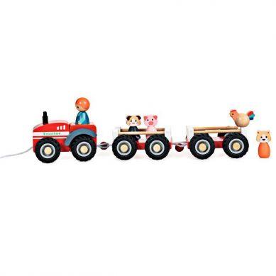 Egmont Toys - Drewniany Ciągnik z Przyczepami 1+