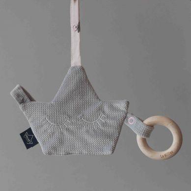 La Millou - Pacifier Combo Velvet Collection Dark Grey Unicorn Sugar Bebe