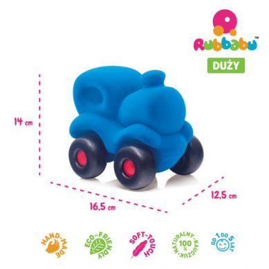 Rubbabu - Lokomotywa Sensoryczna Niebieska Duża