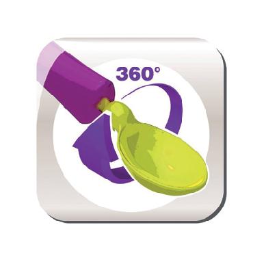 Beaba - Łyżeczka 360 Stopni Nude
