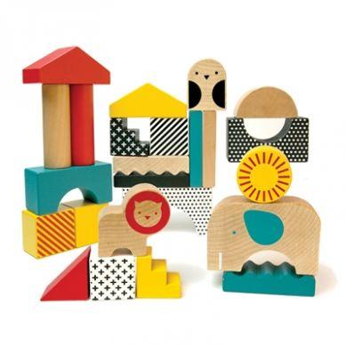 Petit Collage - Klocki Drewniane Zwierzęta