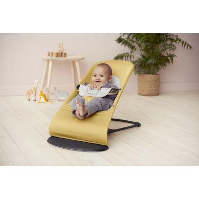 BabyBjorn - Leżaczek Balance Soft Cotton Jersey Żółty/Szary