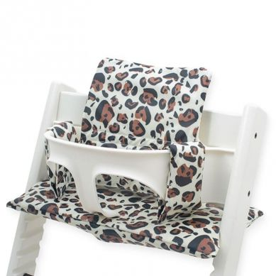 Jollein - Poduszka do Krzesełka Stokke Tripp Trapp Leopard Natural