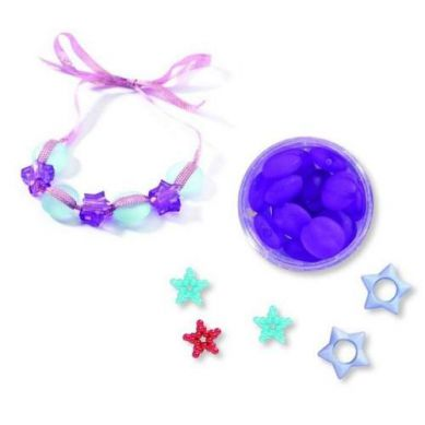 Djeco - Zestaw do Tworzenia Biżuterii Perły i Gwiazdki