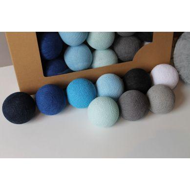 Cottonove Love - Lampka z Bawełnianych Kul 35szt. Blackness Blue