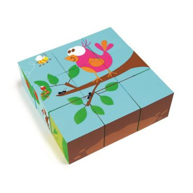 Scratch - Puzzle 9 klocków Las