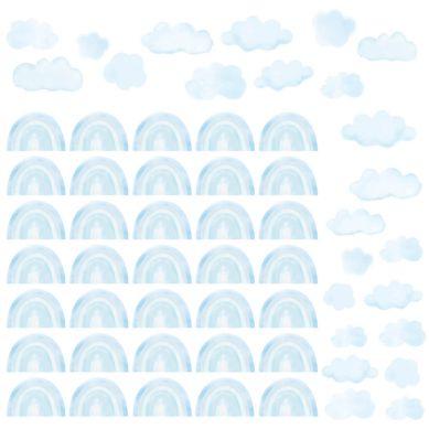 Pastelowelove - Naklejki Mini Tęcze Niebieskie