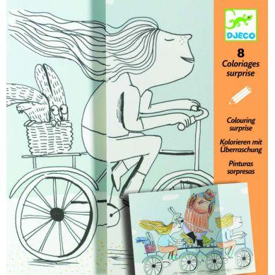 Djeco - Kolorowanki z Niespodzianką Rower