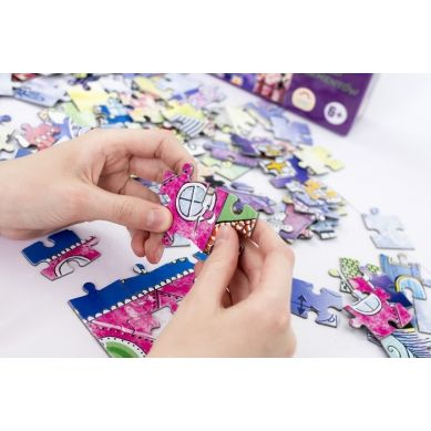 Maka Kids - Puzzle Magnetyczne Baśniowe Wzgórze Pudełko z Uchwytem