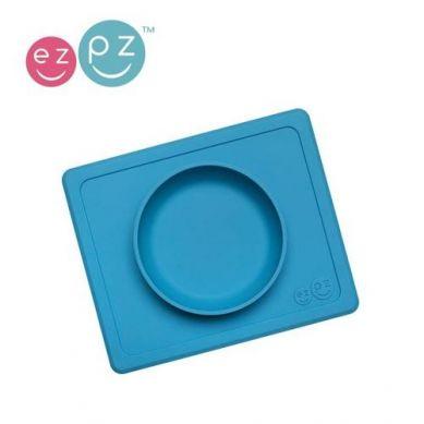EZPZ - Silikonowa Miseczka z Podkładką 2w1 Mini Bowl Niebieski