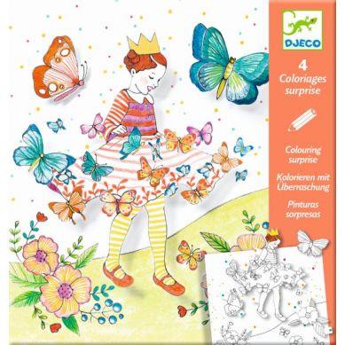 Djeco - Kolorowanki z Niespodzianką Pani Motylek