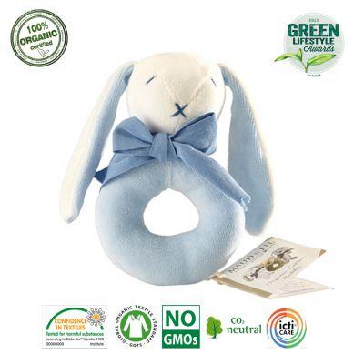 Maud'N'Lil - The Bunny Ring Rattle Grzechotka Organiczna Miękka Oscar