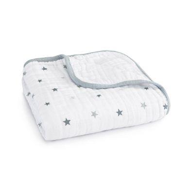 aden + anais -  Kołderka Muślinowa Twinkle Small Stars and White