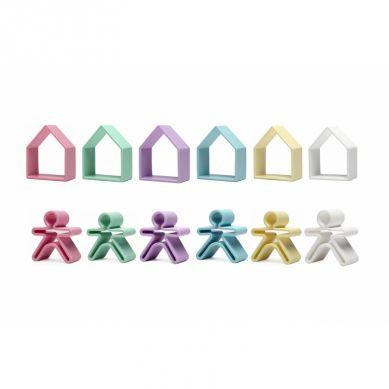 Dena - Zabawka Kreatywna 6 x Kid + 6 x House Pastel
