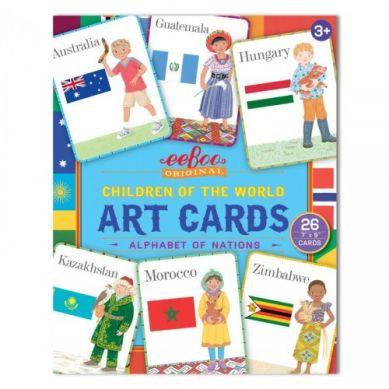 Eeboo - Karty Do Nauki Języka Angielskieo Art Cards Children of the World 3+