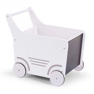 Childhome - Drewniany Wózeczek Biały