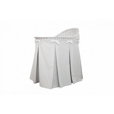 Caramella - Mobilne Łóżeczko Wiklinowe ze Spódnicą Szarą