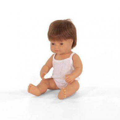 Miniland - Lalka Chłopiec Europejczyk 38cm Rude Włosy