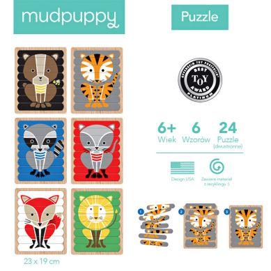 Mudpuppy - Puzzle Patyczki Geometryczne Zwierzęta 24 el