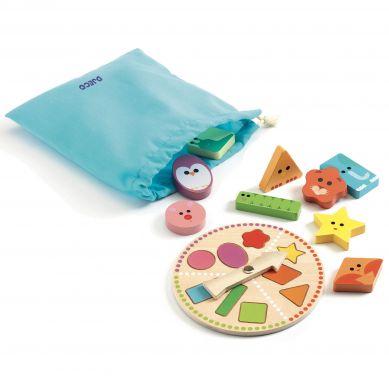 Djeco - Drewniana Gra Lotto Tactilo Basic