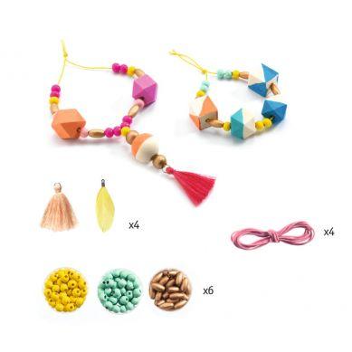 Djeco - Zestaw do Tworzenia Biżuterii Perły i Kostki