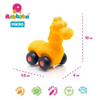 Rubbabu - Żyrafa Pojazd Sensoryczny Pomarańczowy Mikro