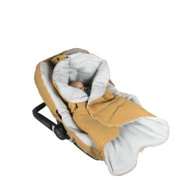 Muzpony - Pikowany Śpiworek/Otulacz do Fotelika Samochodowego Blink Camel