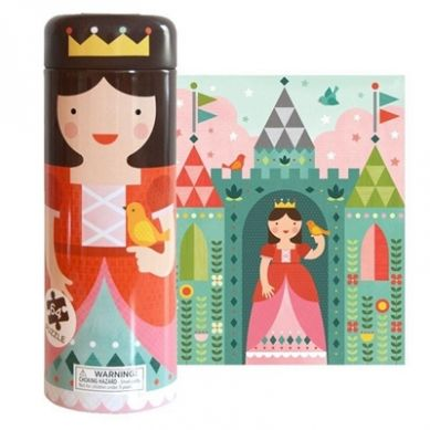 Petit Collage - Puzzle w Skarbonce Zamek Królewski 4+