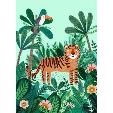 Petit Monkey - Pocztówka/Kartka na Życzenia Tiger