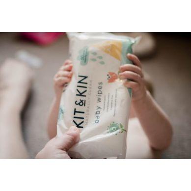 Kit and Kin - Biodegradowalne Bezzapachowe Chusteczki Nawilżane 60szt
