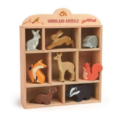 Tender Leaf Toys - Drewniane Figurki do Zabawy Leśne Zwierzęta 3+