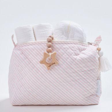 Bim Bla -Kosmetyczka Różowe Paseczki