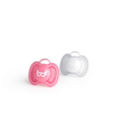 Herobility - Smoczek Uspokajający HeroPacifier Różowy/Biały 2szt 0m+