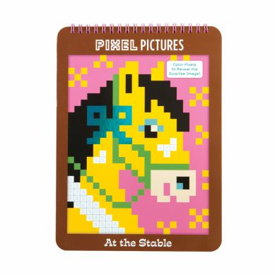 Mudpuppy - Kolorowanka Pixele Konie
