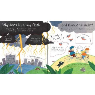 Wydawnictwo Usborne Publishing - Lift the flap first Questions & Answers What makes it rain