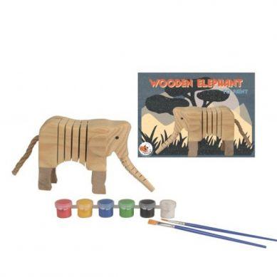 Egmont Toys - Drewniany Słoń do Pomalowania 3+