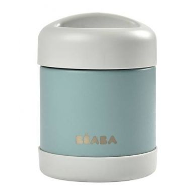 Beaba - Pojemnik - Termos Obiadowy ze Stali Nierdzewnej z Hermetycznym Zamknięciem 300 ml Light Mist/Eucalyptus Green