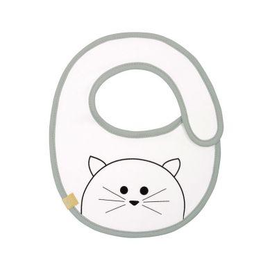 Lassig - Śliniak Bawełniany Wodoodporny Little Chums Kot