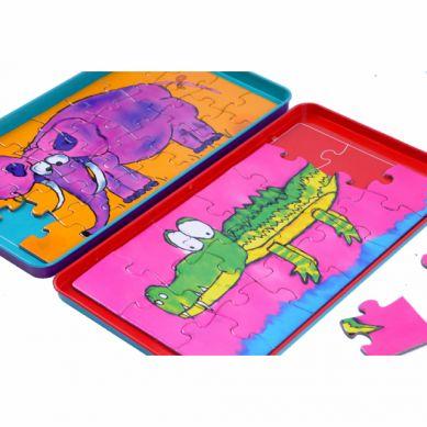 The Purple Cow - Gra Magnetyczna Puzzle