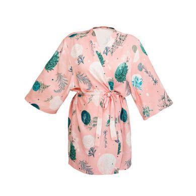 Lullalove - Szlafrok / Kimono Bambusowe - Rose Garden