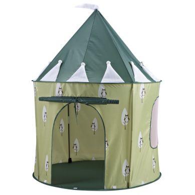 Kids Concept - Namiot Zielony w Sówki
