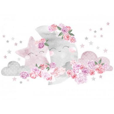 Pastelowelove - Naklejka na Ścianę Księżyc Różowy