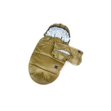 Poofi - Zestaw Zimowy Śpiworek + Mufka Oliwkowe/Paprocie