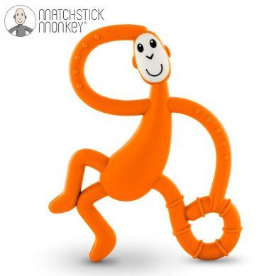Matchstick Monkey - Gryzak Masujący ze Szczoteczką Orange 3m+