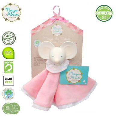 Meiya & Alvin - Miękka Przytulanka z Organicznym Gryzakiem Meiya Mouse