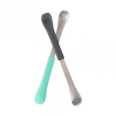 Boon Dwustronne Łyżeczki Mint/Grey