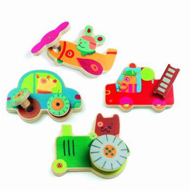 Djeco Puzzle Wkrętki Pojazdy