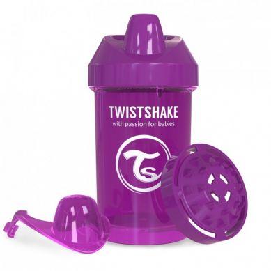 Twistshake - Kubek Niekapek z Mikserem do Owoców 300ml Fioletowy
