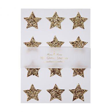 Meri Meri - Zestaw Naklejek Gold Glitter Star