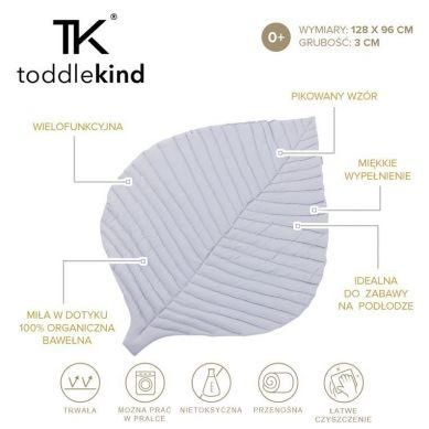 Toddlekind - Mata do Zabawy z Bawełny Organicznej w Kształcie Liścia Leaf Mat Stone